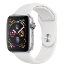 Apple Watch 40MM 銀色鋁金屬錶殼搭配白色運動型錶帶