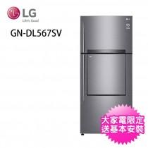 LG 樂金 525公升直驅變頻上下門中門冰箱(GN-DL567SV) (M)