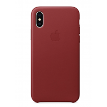 iPhone X 皮革保護殼 - (PRODUCT)RED