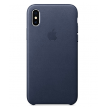 iPhone X 皮革保護殼 - 午夜藍色